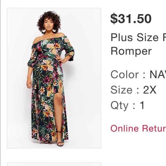 150fcdf6f8fa Forever 21 Dresses   Skirts - Floral maxi skort maxi romper